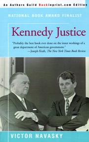 Cover of: Kennedy justice by Victor S. Navasky
