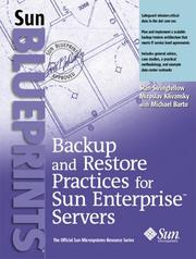 Cover of: Backup and restore practices for Sun Enterprise servers | Stan Stringfellow