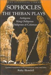 Sophocles The Theban Plays Open Library