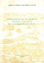 Cover of: Challenges to authority | Robin W. Fiddian