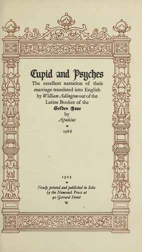 Cupid and Psyches by Apuleius