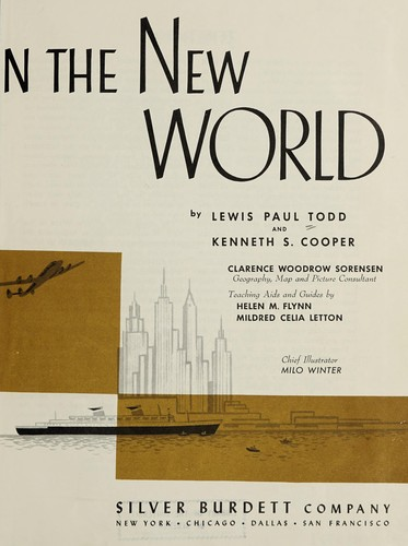 New ways in the New World by Lewis Paul Todd