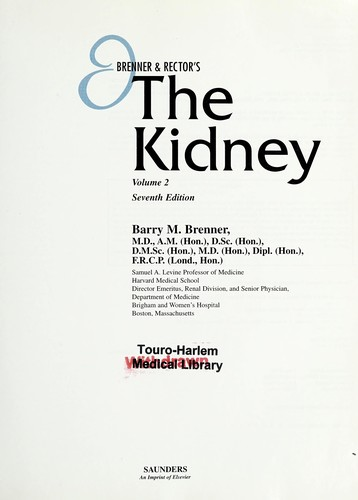 Brenner & Rector's the kidney by Barry M. Brenner