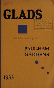 Cover of: Glads, 1933 | Paul-Ham Gardens