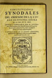 Cover of: Constituciones synodales | Catholic Church. Diocese of La Paz (Bolivia)