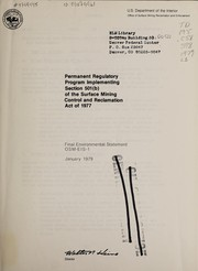 Cover of: Permanent regulatory program implementing section 501(b) of the Surface mining control and reclamation act of 1977 | United States. Office of Surface Mining Reclamation and Enforcement