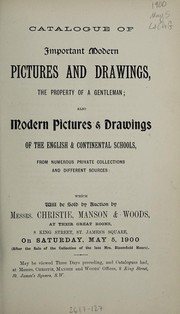 Cover of: Catalogue of important modern pictures and drawings | Christie, Manson & Woods