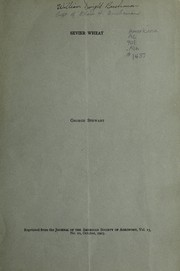 Cover of: Sevier wheat | Stewart, George