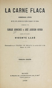 Cover of: La carne flaca | Vicente Lleó