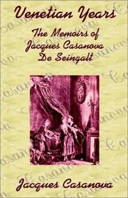 Cover of: Venetian Years | Jacques Casanova