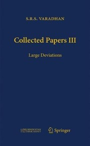Cover of: Collected Papers III: Large Deviations | S.R.S. Varadhan