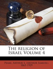 Cover of: The religion of Israel Volume 4 |