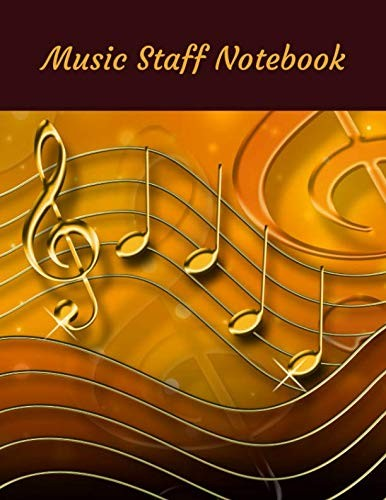 Music Staff Notebook: Blank music staff notebook; manuscript notebook by Atkins Avenue Books