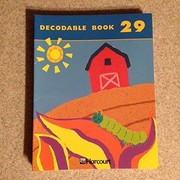 Cover of: Harcourt School Publishers Trophies: Decodable Book Kb29 Gr1 | HARCOURT SCHOOL PUBLISHERS