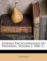 Cover of: Journal Encyclopedique Ou Universel, Volume 2, Part 2... (French Edition) | Anonymous