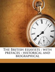 Cover of: The British essayists: with prefaces : historical and biographical Volume 9 | Alexander Chalmers