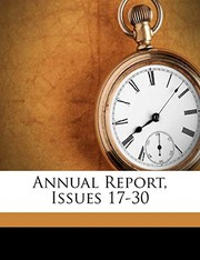 Cover of: Annual Report, Issues 17-30 (Afrikaans Edition) |