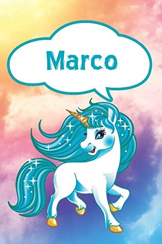 "Marco: Unicorn Blank Comic Book Notebook Journal book 120 pages 6""x9"" by Rob Cole"