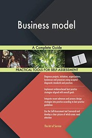 Cover of: Business model A Complete Guide | Gerardus Blokdyk