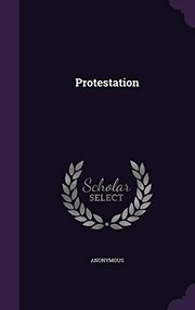 Cover of: Protestation | Anonymous