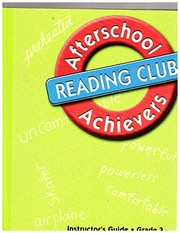 Cover of: Great Source Afterschool Achievers Reading: Teacher Edition Grade 3 | Michael F. Opitz