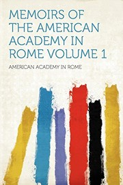 Cover of: Memoirs of the American Academy in Rome Volume 1 |