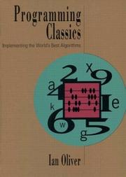 Cover of: Programming classics | Oliver, Ian
