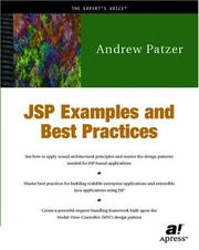Cover of: JSP Examples and Best Practices | Andrew Patzer