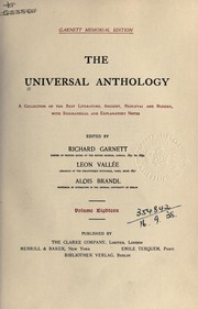 Cover of: The universal anthology | Richard Garnett