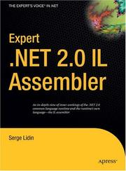 Cover of: Expert .NET 2.0 IL Assembler by Serge Lidin