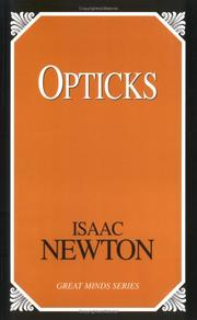 Cover of: Opticks (Great Mind) | John Conduitt
