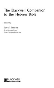 Cover of: The Blackwell companion to the Hebrew Bible | Leo G. Perdue
