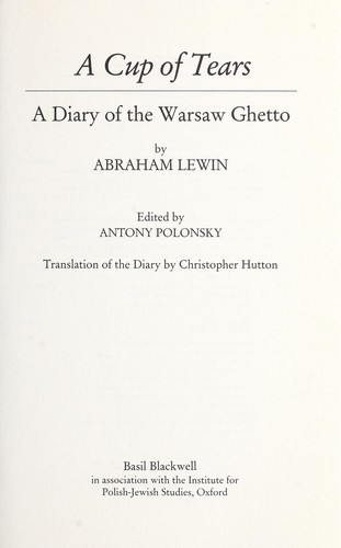 A Cup of Tears by Abraham Lewin
