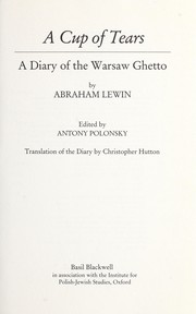 Cover of: A Cup of Tears | Abraham Lewin