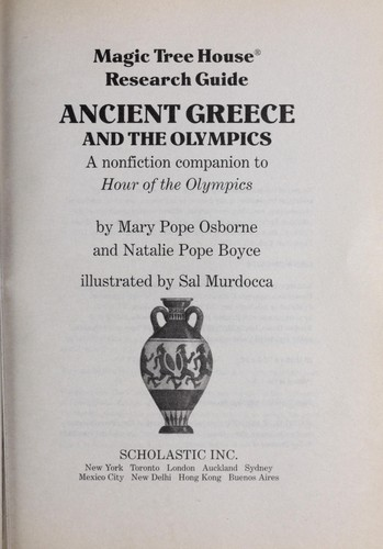 Magic Tree House Research Guide Ancient Greece and the Olympics by Mary Pope Osborne