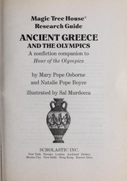 Cover of: Magic Tree House Research Guide Ancient Greece and the Olympics | Mary Pope Osborne