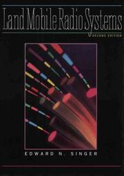 Cover of: Land mobile radio systems by Edward Singer