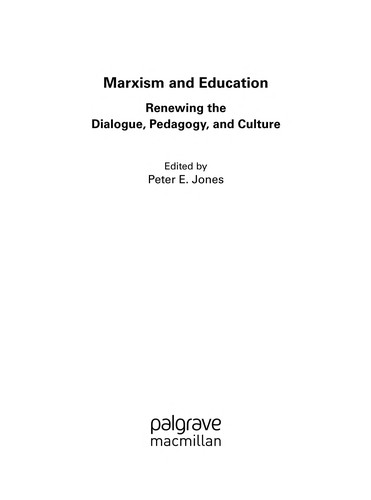 Marxism and education by P. E. Jones
