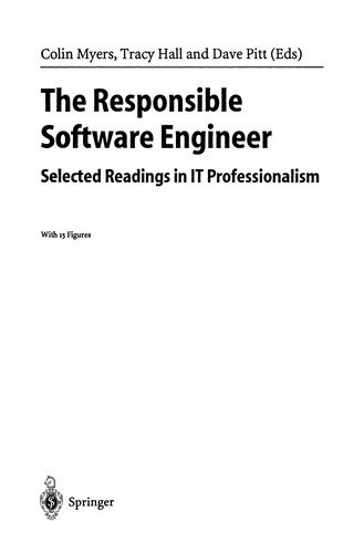 The responsible software engineer by Colin Myers