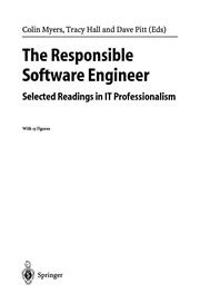 Cover of: The responsible software engineer | Colin Myers