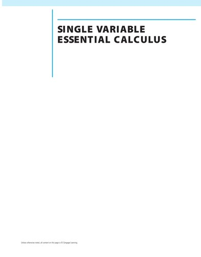 Single variable essential calculus by James Stewart
