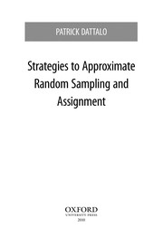 Cover of: Strategies to approximate random sampling and assignment | Patrick Dattalo