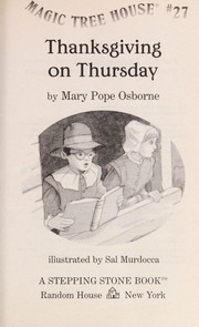 Cover of: Thanksgiving on Thursday | Mary Pope Osborne