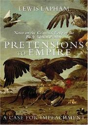 Cover of: Pretensions to Empire | Lewis H. Lapham