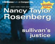 Cover of: Sullivan's Justice (Carolyn Sullivan) | Nancy Taylor Rosenberg