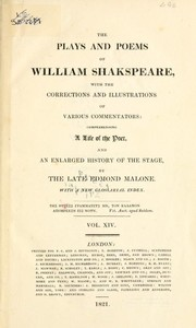 The Plays and Poems of William Shakspeare (Coriolanus / Winter's Tale)
