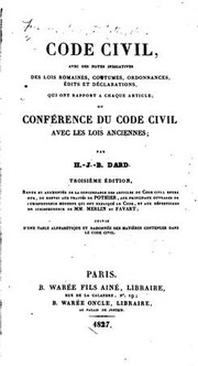 Cover of: Code civil | France