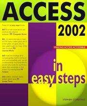 Cover of: Access 2002 in Easy Steps | Stephen Copestake
