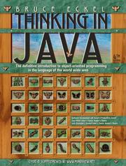 Cover of: Thinking in Java by Bruce Eckel