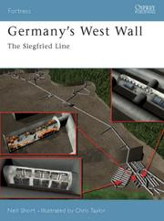 Cover of: Germany's West Wall | Neil Short